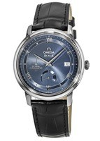 Omega De Ville Prestige Co-Axial Chronograph Automatic Blue Dial Leather Strap Men's Watch 424.13.40.21.03.002