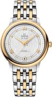 Omega De Ville Prestige Co-Axial 32.7mm Yellow Gold and Stainless Steel Women's Watch 424.20.33.20.52.001