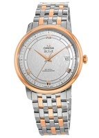 Omega De Ville Prestige Co-Axial 39.5mm Rose Gold and Stainless Steel Men's Watch 424.20.40.20.02.002