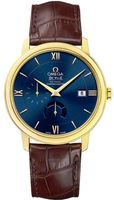 Omega De Ville Prestige Power Reserve Co-Axial 18kt Yellow Gold Blue Dial Men's Watch 424.53.40.21.03.001