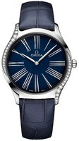 Omega De Ville Tresor 36mm Blue Dial Blue Leather Women's Watch 428.18.36.60.03.001