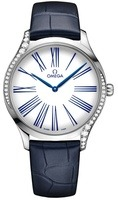 Omega De Ville Tresor White Dial Blue Leather Women's Watch 428.18.39.60.04.001