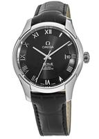 Omega De Ville Chronometer Black Dial Leather Strap Men's Watch 431.13.41.21.01.001