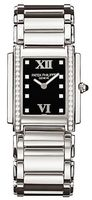 Patek Philippe Twenty-4  Diamond Black Dial Steel Women's Watch 4910-10A-001