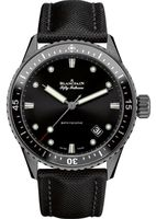 Blancpain Fifty Fathoms Automatic Black Dial Black Fabric Men's Watch 5000-0130-B52A
