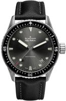 Blancpain Fifty Fathoms Automatic Grey Dial Black Fabric Men's Watch 5000-1110-B52A
