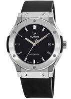 Hublot Classic Fusion 45mm Black Dial Titanium Men's Watch 511.NX.1171.RX