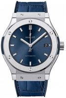 Hublot Classic Fusion 45mm Titanium Blue Dial Men's Watch 511.NX.7170.LR