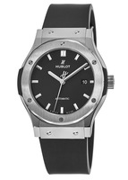 Hublot Classic Fusion 42mm Titanium Case Black Rubber Strap Men's Watch 542.NX.1171.RX