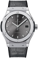 Hublot Classic Fusion 42mm Grey Dial Leather Strap Men's Watch 542.NX.7071.LR