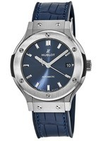 Hublot Classic Fusion 38mm Titanium Blue Sunray Dial Men's Watch 565.NX.7170.LR