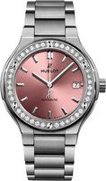 Hublot Classic Fusion 38mm Pink Diamond Dial Titanium Women's Watch 568.NX.891P.NX.1204