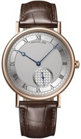 Breguet Classique Automatic Rose Gold Brown Leather Men's Watch 7147BR/12/9WU