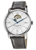 Baume & Mercier Classima Executives Automatic 42mm Open Balance Dial Leather Strap Men's Watch 8688