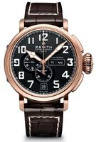 Zenith Pilot Montre d'Aeronef Type 20 Annual Calendar Rose Gold Men's Watch 87.2430.4054/21.C721