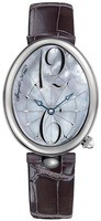 Breguet Reine de Naples Automatic Mother of Pearl Dial Grey Leather Women's Watch 8967ST/58/986