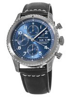 Breitling Navitimer 8 Chronograph 43 Blue Dial Black Leather A13314101C1X1 Men's Watch A13314101/C1-487X