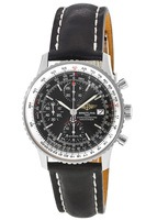 Breitling Navitimer Heritage 42mm Special Edition Black Leather Strap Men's Watch A1332412/BF27/436X