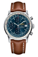 Breitling Navitimer Heritage Blue Dial Gold Leather Men's Watch A1332412/C942-433X
