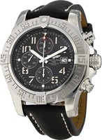 Breitling Avenger Super Avenger II Black Arabic Dial Calf Leather Strap Men's Watch A1337111/BC28-441X