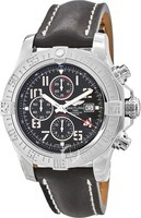 Breitling Avenger Super Avenger II Arabic Dial Black Leather Deployment Buckle Strap Men's Watch A1337111/BC28-442X