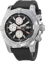 Breitling Avenger Super Avenger II Black Chronograph Fabric Strap Men's Watch A1337111/BC29-104W