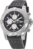Breitling Avenger Super Avenger II Black Stick Dial Rubber Strap Men's Watch A1337111/BC29-154S