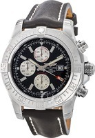 Breitling Avenger Super Avenger II Black Calf Leather Men's Watch A1337111/BC29-441X