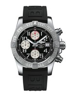 Breitling Avenger II  Black Dial Black Rubber Men's Watch A1338111/BC33-153S