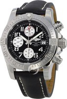 Breitling Avenger Avenger II Chronograph Black Leather Strap Men's Watch A1338111/BC33-435X