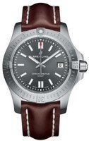 Breitling Chronomat Colt Automatic 41 Grey Dial Brown Leather Men's Watch A1731310/F584-431X