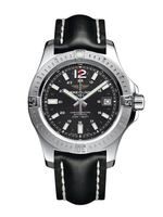 Breitling Colt 41 Automatic Black Dial Black Leather Men's Watch A1731311/BE90-428X