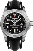 Breitling Avenger Avenger II Seawolf Black Dial Black Leather Men's Watch A1733110/BC31-435X