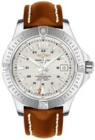 Breitling Colt 44 Automatic Silver Dial Brown Leather Strap Men's Watch A1738811/G791-437X
