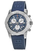 Breitling Colt Chronograph Quartz Blue Dial Rubber Strap Men's Watch A7338811/C905-158S