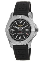 Breitling Colt 44 Quartz Black Dial Rubber Strap Men's Watch A7438811/BD45-152S