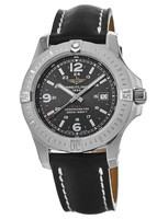 Breitling Colt 44 Quartz Black Dial  Black Calf Leather Strap Men's Watch A7438811/BD45-435X