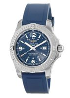 Breitling Colt 44 Quartz Blue Dial Rubber Strap Men's Watch A7438811/C907-145S
