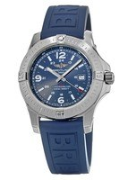 Breitling Colt 44 Quartz Blue Dial Rubber Strap Men's Watch A7438811/C907-158S