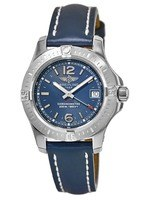 Breitling Colt 33 Quartz Blue Dial Blue Leather Strap Women's Watch A7738811/C908-116X