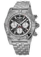 Breitling Chronomat 44 Black Dial Stainless Steel Men's Watch AB011012/B967-388A