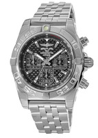 Breitling Chronomat 44 Carbon Dial Stainless Steel Men's Watch AB011012/BF76-375A