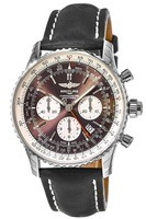 Breitling Navitimer Rattrapante Bronze Dial Brown Leather Men's Watch AB031021/Q615-441X