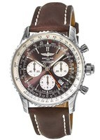 Breitling Navitimer Rattrapante Bronze Chronograph Dial Brown Leather Men's Watch AB031021/Q615-443X