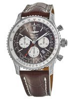 Breitling Navitimer Rattrapante B03 Chronograph Bronze Dial Crocodile Leather Strap Men's Watch AB031021/Q615-757P