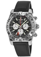 Breitling Chronomat GMT Black Rubber Men's Watch AB0413B9/BD17-135S
