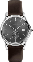Emporio Armani Classic  Brown Leather Men's Watch ARS1000