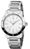 Bulgari   Silver Opaline Dial Men's Watch BB39WSSD