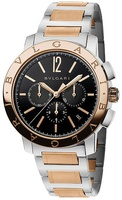 Bulgari   Rose Gold And Stainless Steel Chronograph Men's Watch BB41BSPGDCH