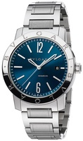Bulgari   Blue Dial Stainless Steel Men's Watch BB41C3SSD